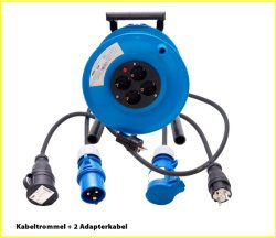 Kabeltrommel Test: Hedi Kabeltrommel StarLite mit 2 Adapterkabel